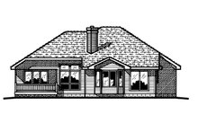 Home Plan Design - Traditional Exterior - Rear Elevation Plan #20-155