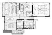 Contemporary Style House Plan - 3 Beds 2 Baths 2011 Sq/Ft Plan #928-345 Floor Plan - Main Floor Plan