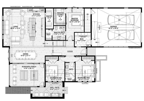 Contemporary Floor Plan - Main Floor Plan Plan #928-345