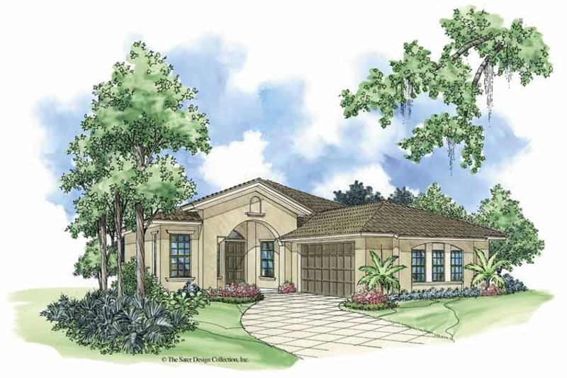 Mediterranean Exterior - Front Elevation Plan #930-380
