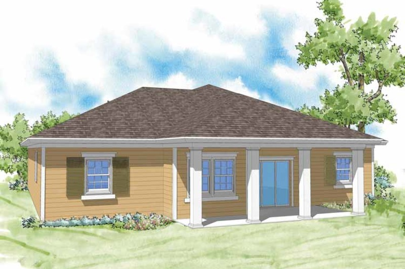 Country Exterior - Rear Elevation Plan #930-363 - Houseplans.com