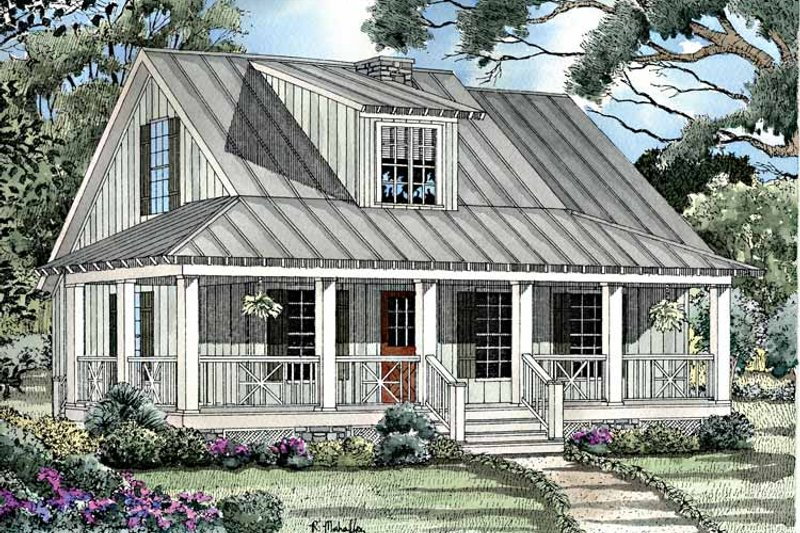 Craftsman Exterior - Front Elevation Plan #17-3154