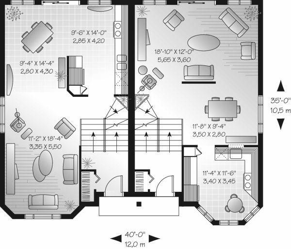 European Floor Plan - Main Floor Plan Plan #23-682