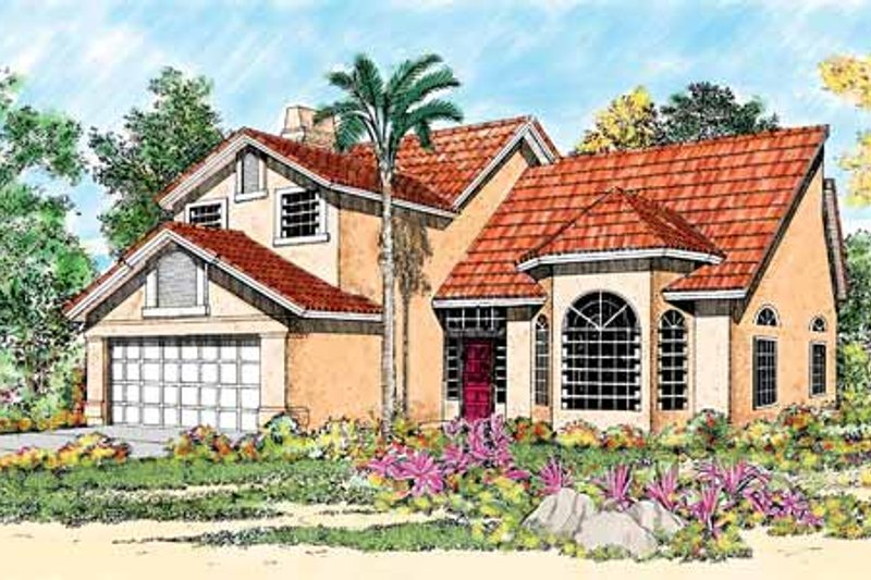 House Blueprint - Mediterranean Exterior - Front Elevation Plan #72-920