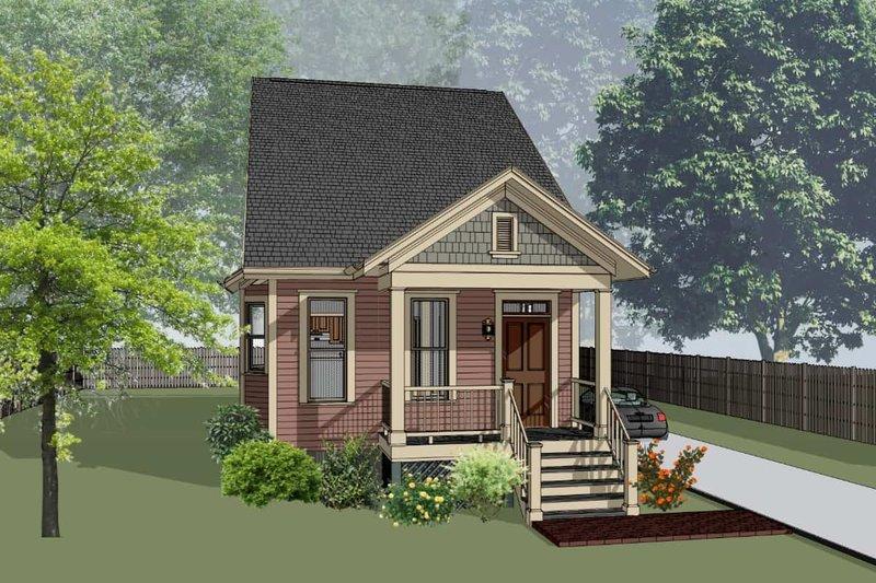 Architectural House Design - Cottage Exterior - Front Elevation Plan #79-175