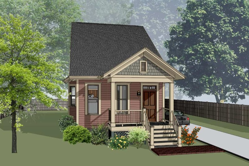 Cottage Exterior - Front Elevation Plan #79-175