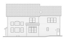 Colonial Exterior - Rear Elevation Plan #1010-64