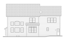House Plan Design - Colonial Exterior - Rear Elevation Plan #1010-64