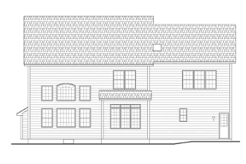 Colonial Exterior - Rear Elevation Plan #1010-64 - Houseplans.com