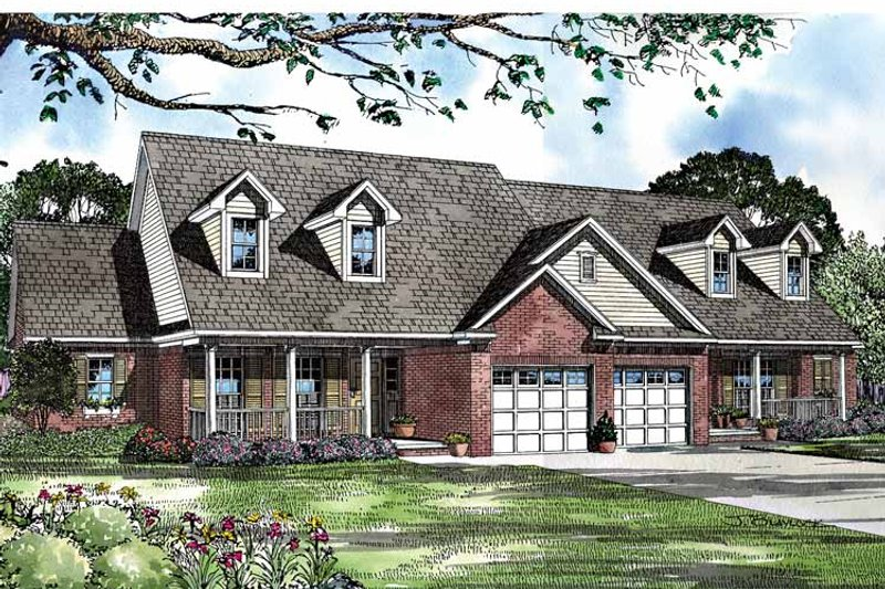 Country Exterior - Front Elevation Plan #17-3119 - Houseplans.com
