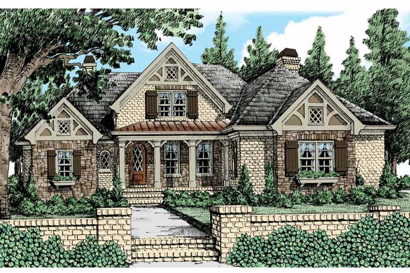 Tudor Exterior - Front Elevation Plan #927-431 - Houseplans.com