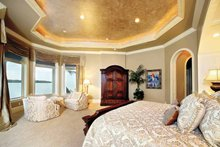 House Plan Design - Mediterranean Interior - Master Bedroom Plan #1017-14