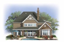Architectural House Design - Craftsman Exterior - Rear Elevation Plan #929-839
