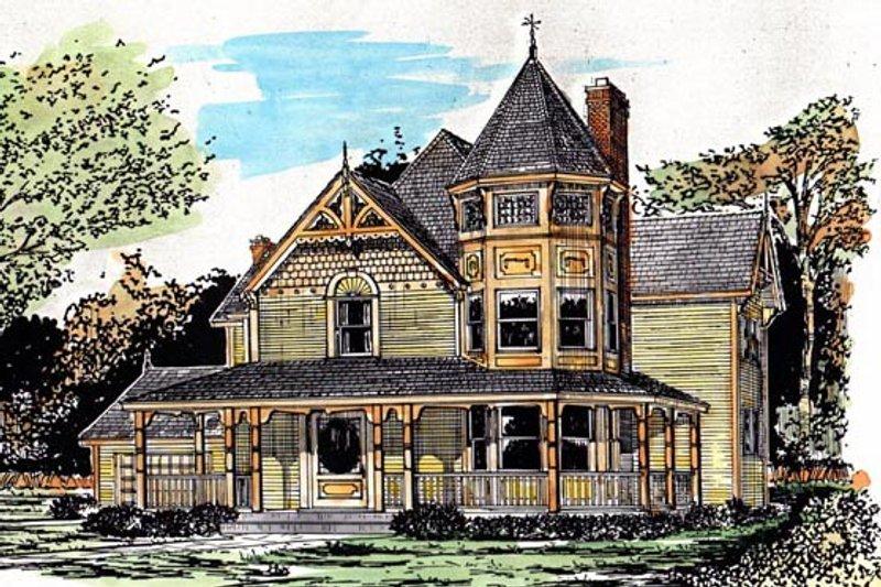 Architectural House Design - Victorian Exterior - Front Elevation Plan #315-103