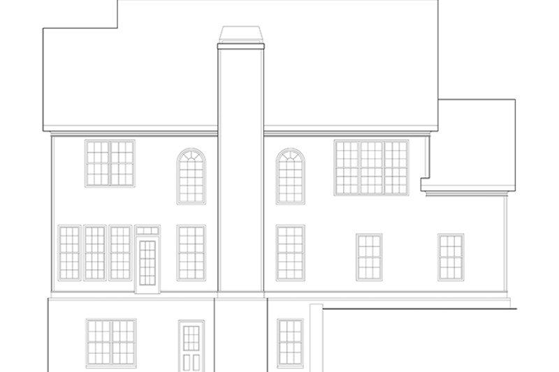 Classical Exterior - Rear Elevation Plan #927-882 - Houseplans.com