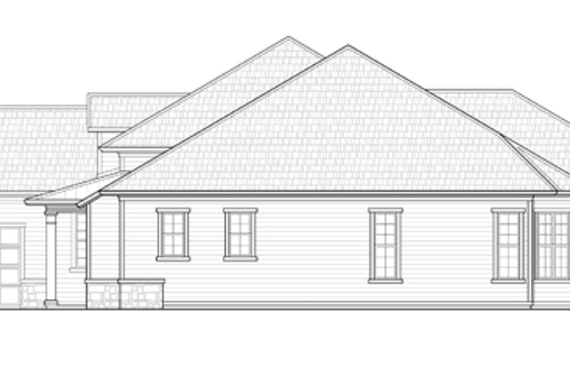 Ranch Exterior - Other Elevation Plan #938-74 - Houseplans.com