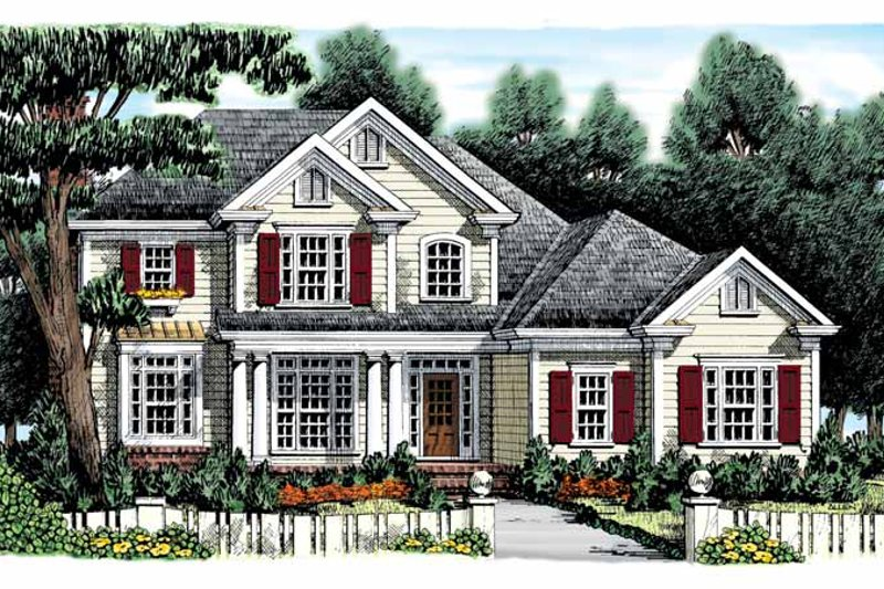Colonial Exterior - Front Elevation Plan #927-886