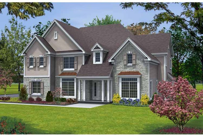 Traditional Exterior - Front Elevation Plan #328-452 - Houseplans.com