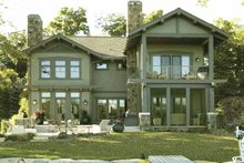 Craftsman Exterior - Rear Elevation Plan #928-15