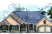 European Style House Plan - 3 Beds 2 Baths 1810 Sq/Ft Plan #70-614 Exterior - Front Elevation