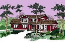 Dream House Plan - Country Exterior - Front Elevation Plan #60-504