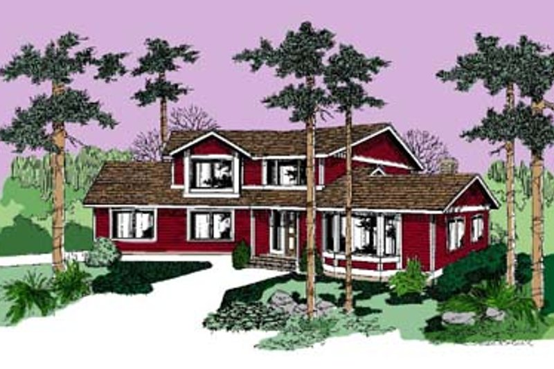 Country Exterior - Front Elevation Plan #60-504
