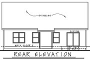 Farmhouse Style House Plan - 3 Beds 2 Baths 1511 Sq/Ft Plan #20-2440 Exterior - Rear Elevation