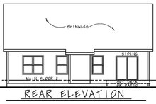House Plan Design - Farmhouse Exterior - Rear Elevation Plan #20-2440
