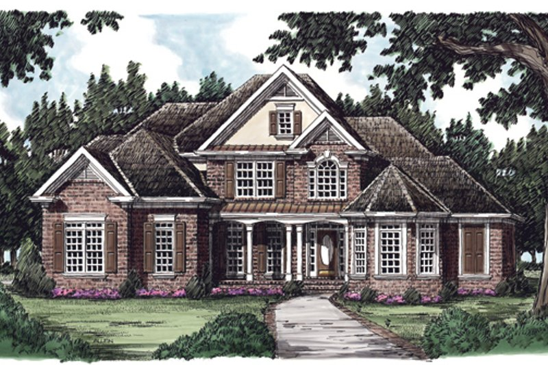 Traditional Exterior - Front Elevation Plan #927-137 - Houseplans.com