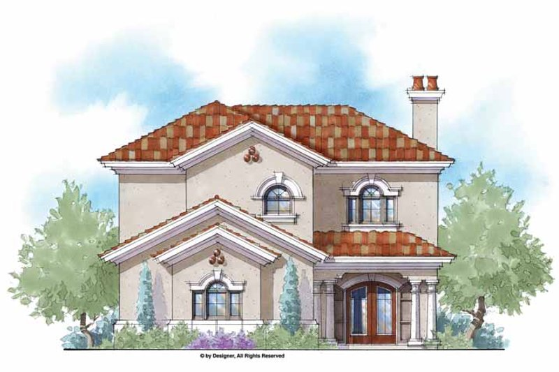 Mediterranean Exterior - Front Elevation Plan #938-45
