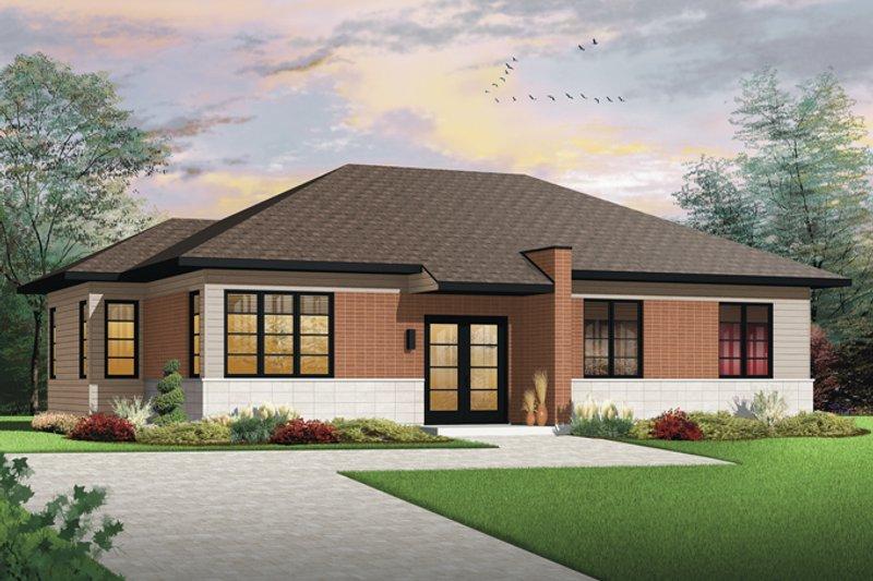 House Plan Design - Contemporary Exterior - Front Elevation Plan #23-2567