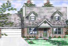 House Plan Design - Colonial Exterior - Front Elevation Plan #52-238