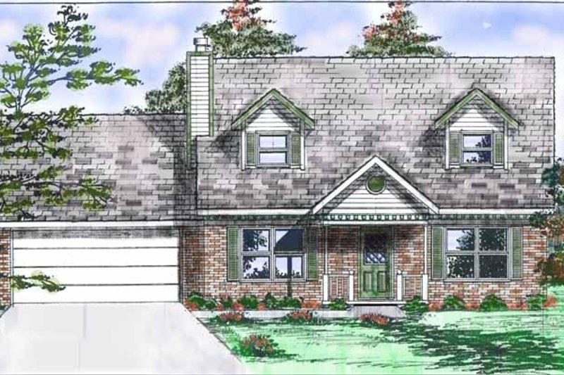 Colonial Exterior - Front Elevation Plan #52-238