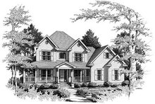 House Plan Design - Traditional Exterior - Front Elevation Plan #10-218