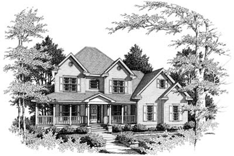 Traditional Exterior - Front Elevation Plan #10-218 - Houseplans.com