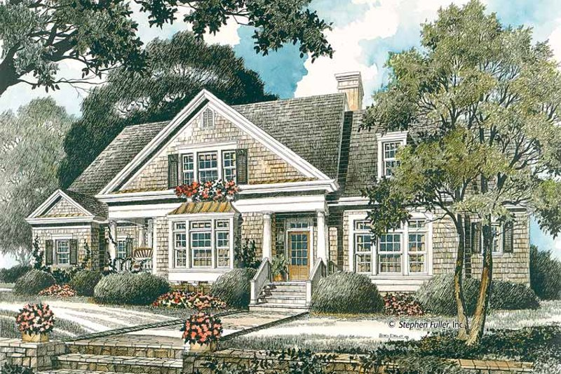 Country Exterior - Front Elevation Plan #429-335 - Houseplans.com