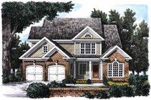 House Plan Design - Country Exterior - Front Elevation Plan #927-696