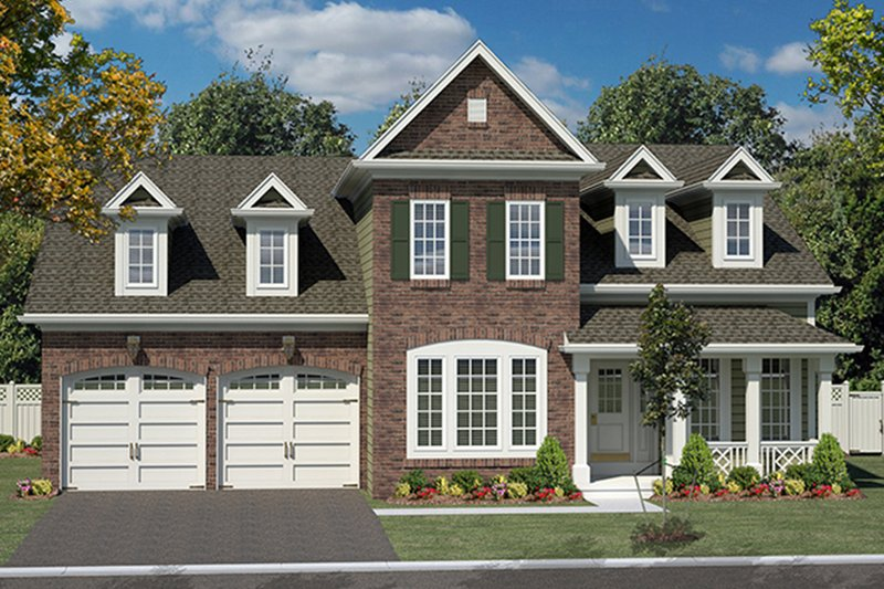 Colonial Exterior - Front Elevation Plan #316-273 - Houseplans.com