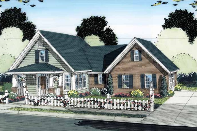 Traditional Exterior - Front Elevation Plan #513-2123 - Houseplans.com