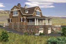 Colonial Exterior - Rear Elevation Plan #132-524