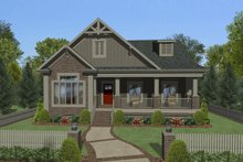Craftsman Exterior - Front Elevation Plan #56-708