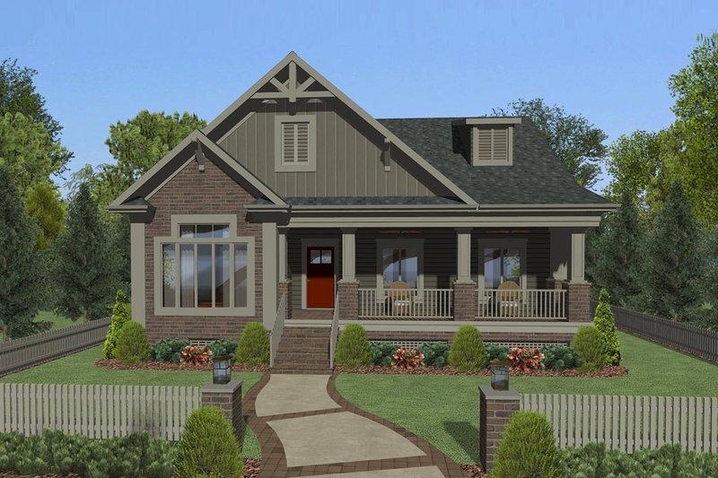 House Plan Design - Craftsman Exterior - Front Elevation Plan #56-708