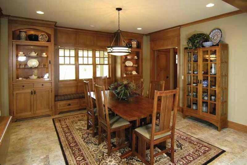 Craftsman Interior - Dining Room Plan #928-30 - Houseplans.com