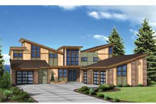 Architectural House Design - Contemporary Exterior - Front Elevation Plan #569-31