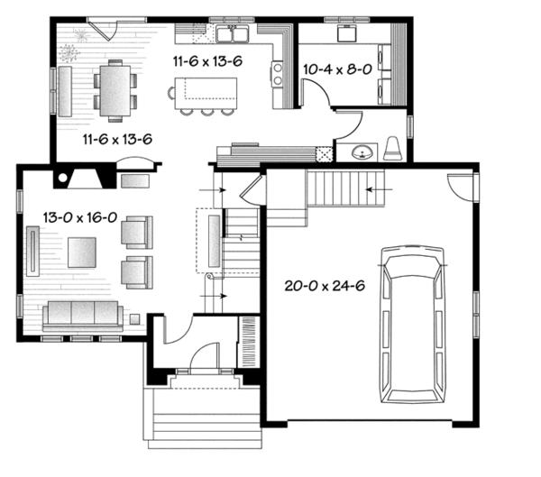 European Floor Plan - Main Floor Plan Plan #23-2579