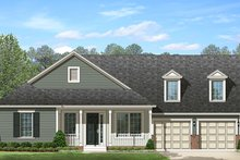 Ranch Exterior - Front Elevation Plan #1058-144