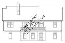Colonial Exterior - Rear Elevation Plan #927-943