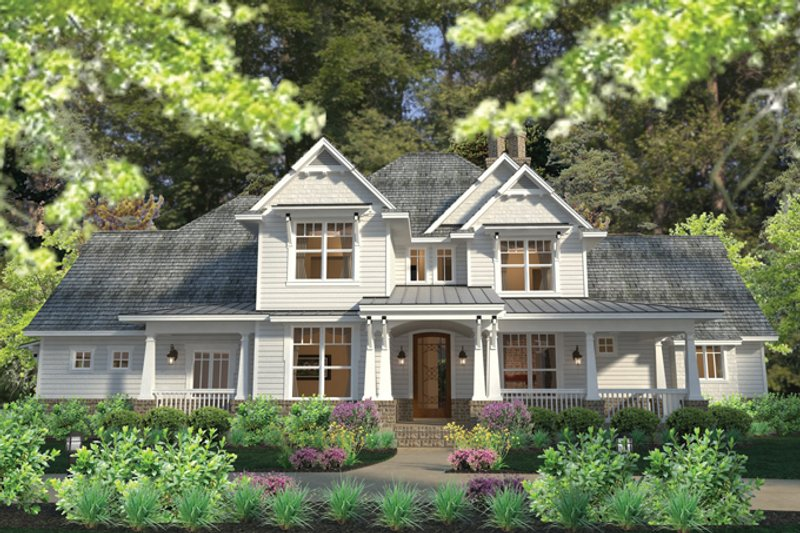 Dream House Plan - Craftsman Exterior - Front Elevation Plan #120-248