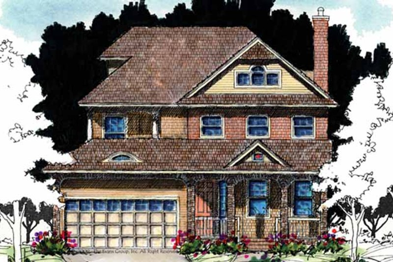 Country Exterior - Front Elevation Plan #1007-60