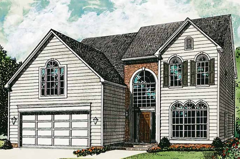 Colonial Exterior - Front Elevation Plan #453-303